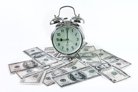 Concept of Time is Money isolated in white photo