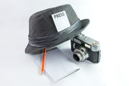 Iconic Symbol of Journalist or Reporter Stock Photo