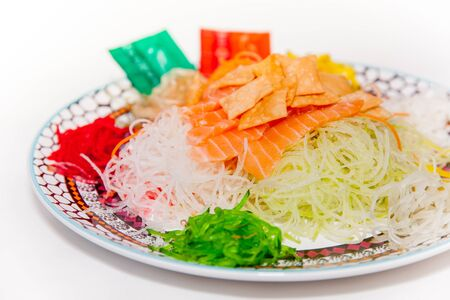 chinese new year food: Yu-Sheng or Lo-Hei, Chinese Tradition during Lunar New Year