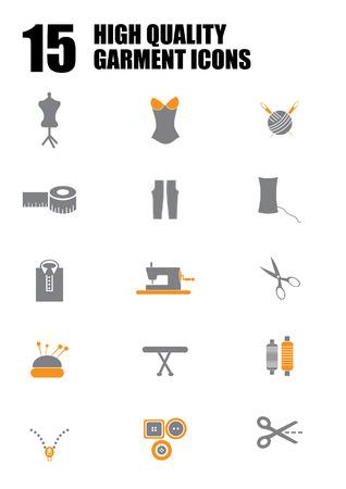 Prendas de vestir y la moda icono de símbolos