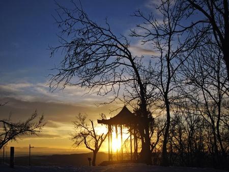 pyatigorsk: Chinesse Arbor. Pyatigorsk. Mashuk. Stock Photo
