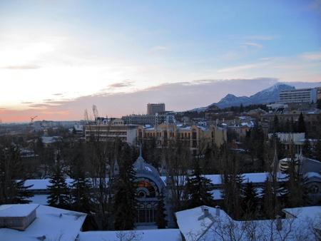pyatigorsk: Pyatigorsk town winter panorama