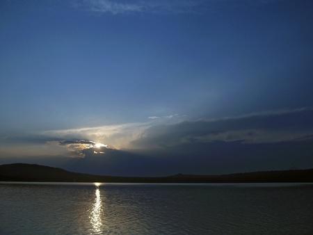 Sunset. Tambukan lake. Summer