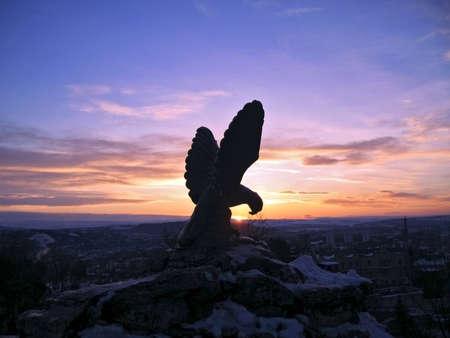 pyatigorsk: The Eagle. Pyatigorsk emblem. Stock Photo