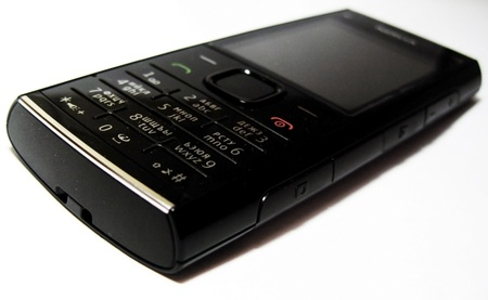 Black mobile phone isolated Stock Photo