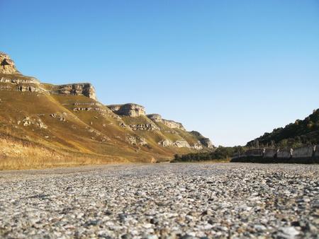 caucas: Road between the mountains. North Caucas landscape