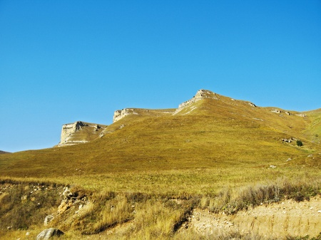 caucas: Mountain after the mountain. North Caucas landscape Stock Photo