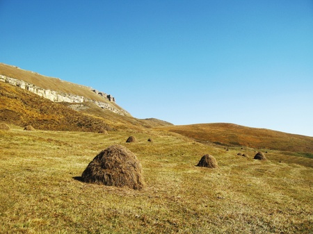 End of summer. Caucasus mountain landscape and azur sky Stock Photo - 11072131