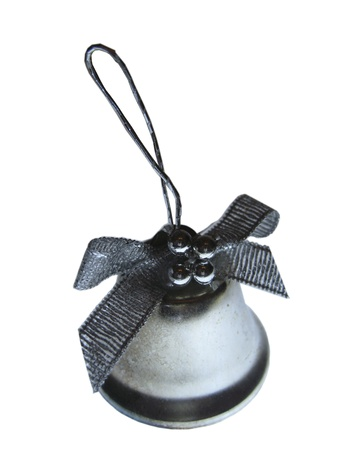 Christmas bell isolated on the white background