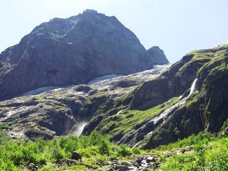 caucas: Caucasus waterfall. Dombay. Sufrudju.  North Caucas travel Stock Photo