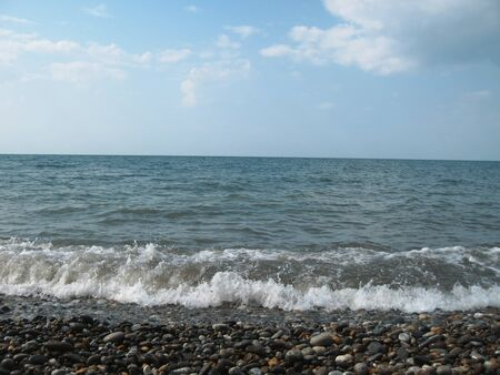 Seashore of the Black sea. Summer journey photo