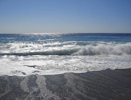The Black Sea shoreline. The Abkhazia travel photo