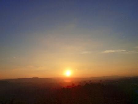 pyatigorsk: Sunset over Pyatigorsk. Panorama. Caucaso settentrionale la natura