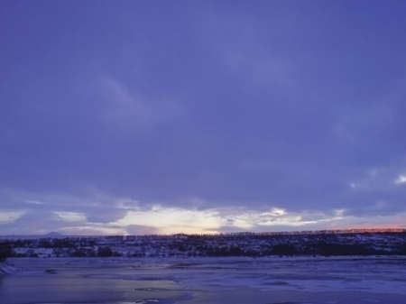 Frozen lake and stormy weather in wintertime Stock Photo - 12659939