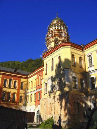 abkhazia: New Aphon monastery  Orthodox church  Abkhazia republic