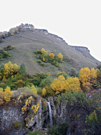 Honey waterfalls and autumn  The North Caucas  photo
