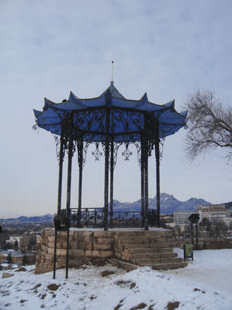 pyatigorsk: Cinese pergolato Caucaso settentrionale monumenti Inverno Pyatigorsk