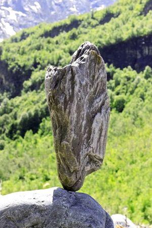 Balanced stones near the caucasus mountain river Stock Photo - 14348447