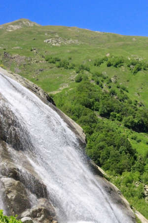 Alibek waterfall  Dombay mountains  The Northern Caucas Stock Photo