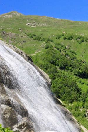 caucas: Alibek waterfall  Dombay mountains  The Northern Caucas Stock Photo