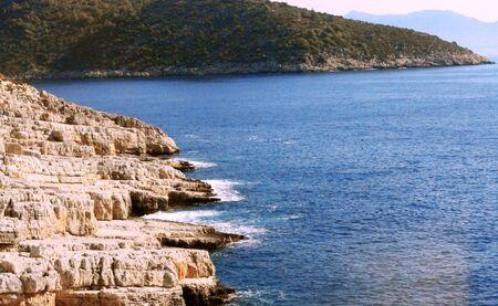 Mediterranean shore of Turkey   The autumn seaside photo