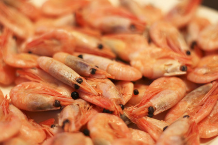 A Boiled Shrimps Background ready for eating photo