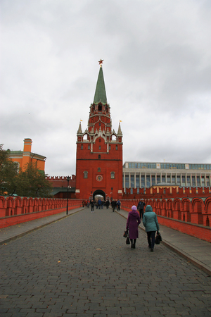 Kremlin Entrance Through Troitskaya Tower, Moscow