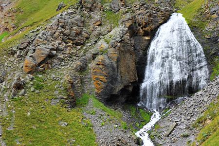 girlish: Waterfall Girlish Braids between the mountains of Northern Caucas