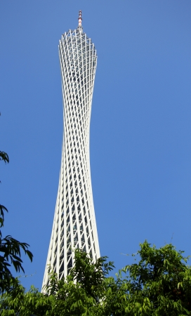 Canton Tower under the blue sky in Guangzhou