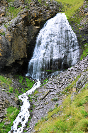 caucas: Waterfall Girlish Braids between the mountains of Northern Caucas