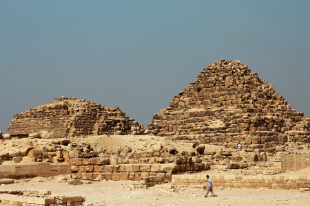 Pyramids In The Desert Of Egypt Giza photo