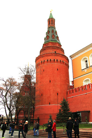 The Wall of Moscow Kremlin on the Red Square