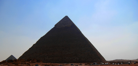 cheops: Pyramids in desert of Egypt in Giza Stock Photo