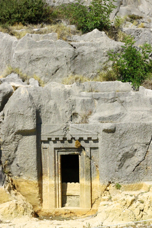 Ancient Dead Town In Myra Demre Turkey