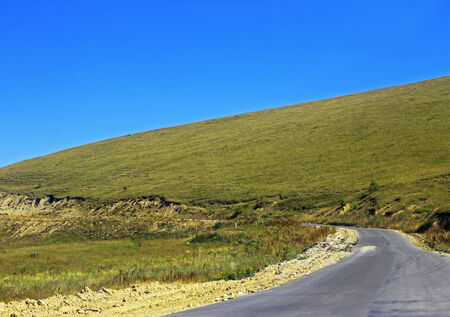 caucas: Mountain highway landscape Stock Photo