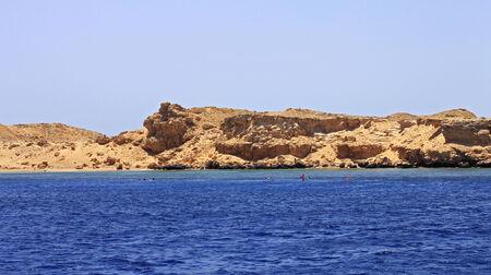 Costa del Mar Rojo en territorio Ras Mohamed Foto de archivo