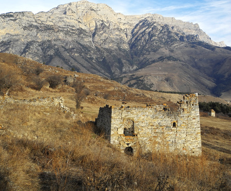 caucas: Towers Of Ingushetia. Ancient Architecture And Ruins Stock Photo