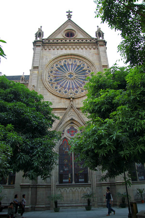 gothic build: Sacred Heart Catholic Cathedral In The Guanzhou China