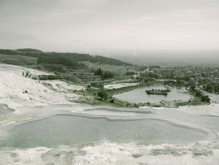 hierapolis: The Pamukkale natural lakes in Hierapolis Turkey