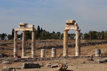 hierapolis: Ruins in the ancient town Hierapolis Turkey