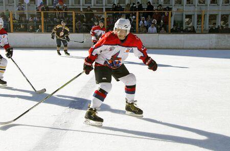 pyatigorsk: Hockey championship The Cup of Mayor Pyatigorsk. Russia, Pyatigorsk 31 January 2015