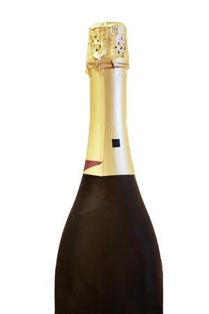 Bottle of shampagne isolated on the white background Stock Photo