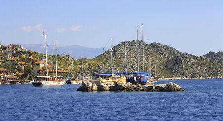 Ancient city on the seashore of Kekova Turkey
