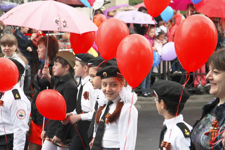 Celebration Of The 70Th Anniversary Of The Victory Day, Pyatigorsk Russia - May 09, 2015 Editorial