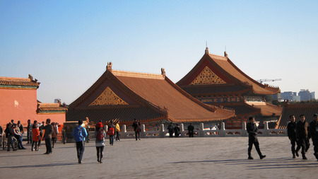 Temples Of The Forbidden City In Beijing China Editorial