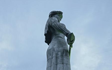 Mother of Georgia statue in Tbilisi Georgia