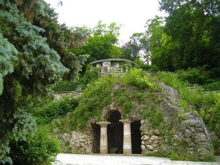 The Dianas Grotto. Flower park. Pyatigorsk landmarks The Northern Caucas Stock Photo
