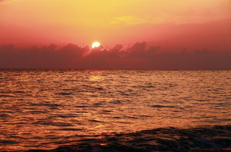 Sunset Over The Sea. Evening. Black sea