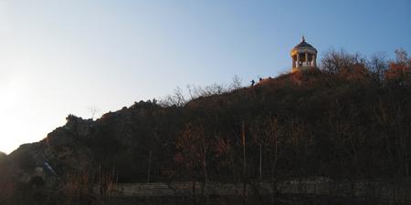 Aeolus Harp and Lermontovs grotto on Mashuk mountain. Pyatigorsk Landmarks And Monuments