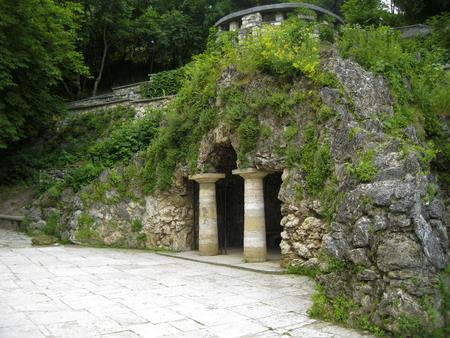 The Dianas Grotto. Flower park. Pyatigorsk landmarks The Northern Caucas Imagens